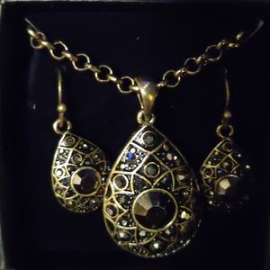 Infinite Stars Pendant Necklace And Earring Gifts